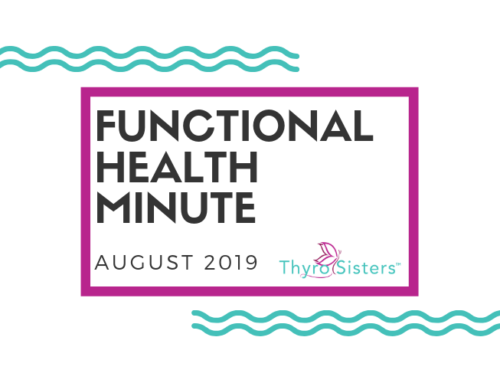 Functional Health Minute August 2019