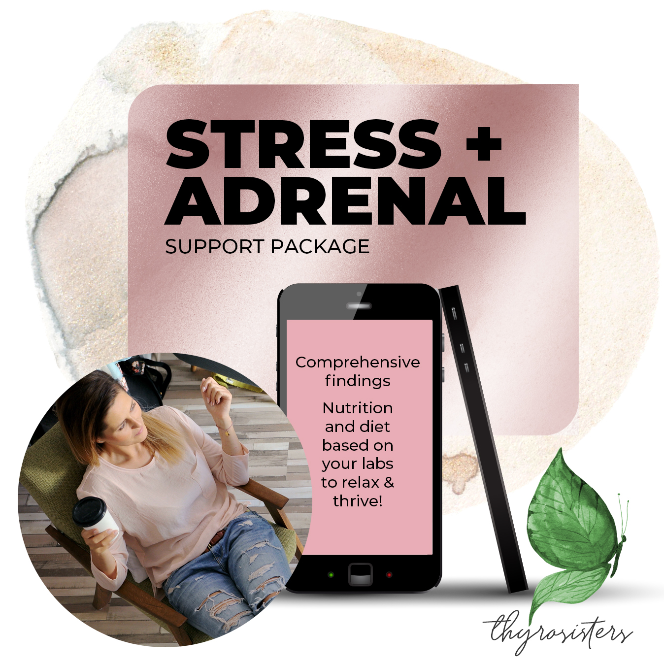Stress and Adrenal Support Package Joni Labbe Thyrosisters